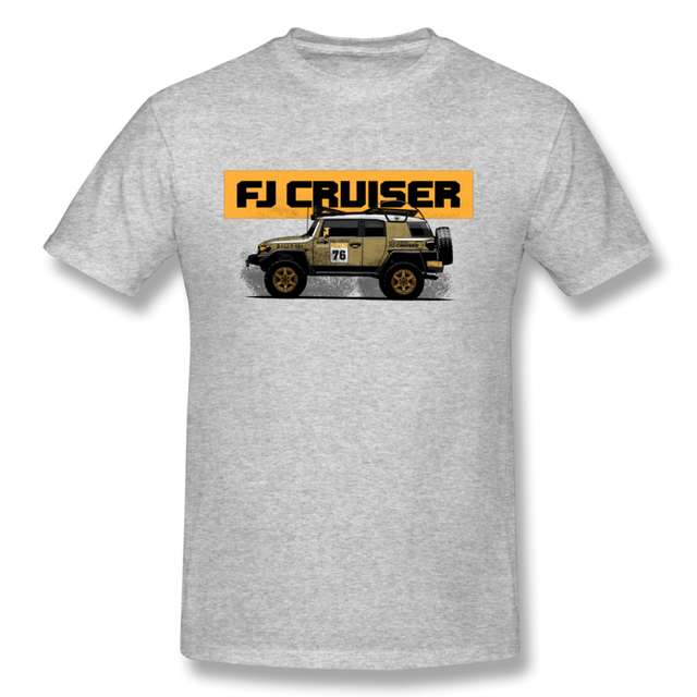 2018 New Arrival FJ Cruiser T-shirt Male Novelty Land Cruiser Car Homme  Tee Shirt Toyota OFF Road Camiseta