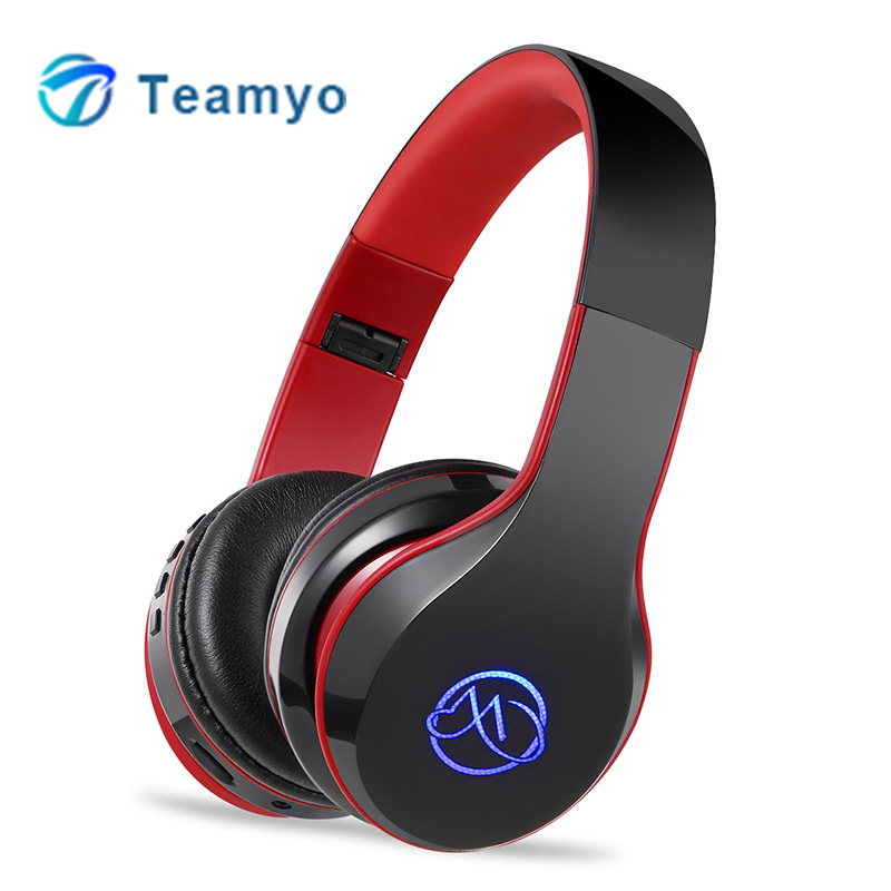 Teamyo Auriculares Bluetooth Headphones Foldable Earphone Fone de ouvido Wireless Gaming Headset Valentines day gift for men kotion each b3506 foldable auriculares wireless fone de ouvido bluetooth headphones gaming headset gamer microphone kulaklik