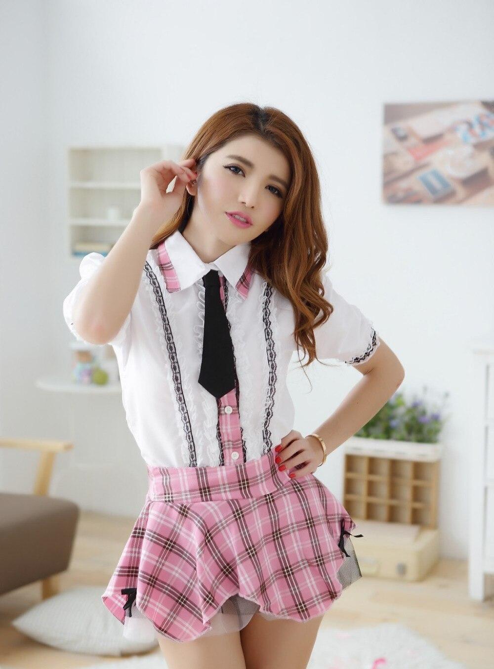 Сексуальное женское белье школьница ropa интерьер mujer Эротика косплей розовый сексуальные костюмы студент форма интимные изделия женские