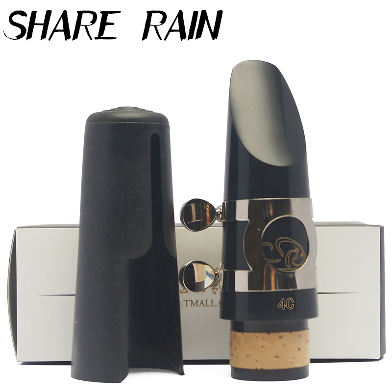 SHARE RAIN Bb Clarinet hard rubber mouthpiece clarinet ligature clarinet cap clarinet setSHARE RAIN Bb Clarinet hard rubber mouthpiece clarinet ligature clarinet cap clarinet set