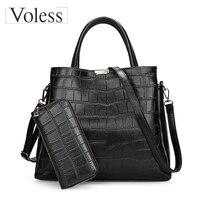 Alligator 2PC Luxury Handbags Women Bags Designer PU Leather Composite Bag Crossbody Bag For Women Totes Ladies Messenger Bags