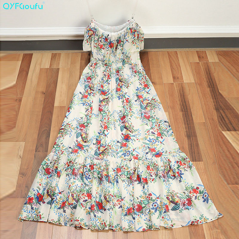 QYFCIOUFU New 2018 High Quality font b Womens b font Party Maxi font b Dresses b