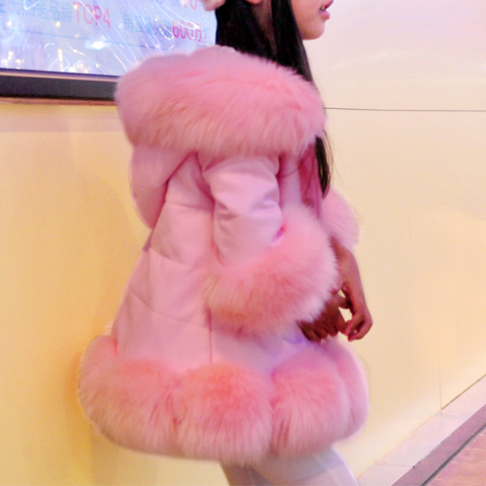 light blue imitation fox fur coat lapel casual luxury fashion female fur coat long coat loose