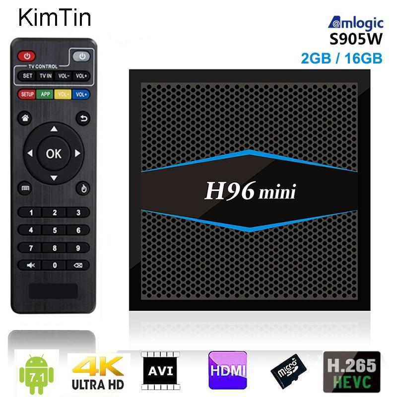 H96 Mini Smart Android 7.1 TV Box S905W 2 GB RAM DDR3 2 GB 16 GB ROM WiFi 2.4 GHz 5.8G Miracast Airplay 4 k Android Box Vs X96 Mini