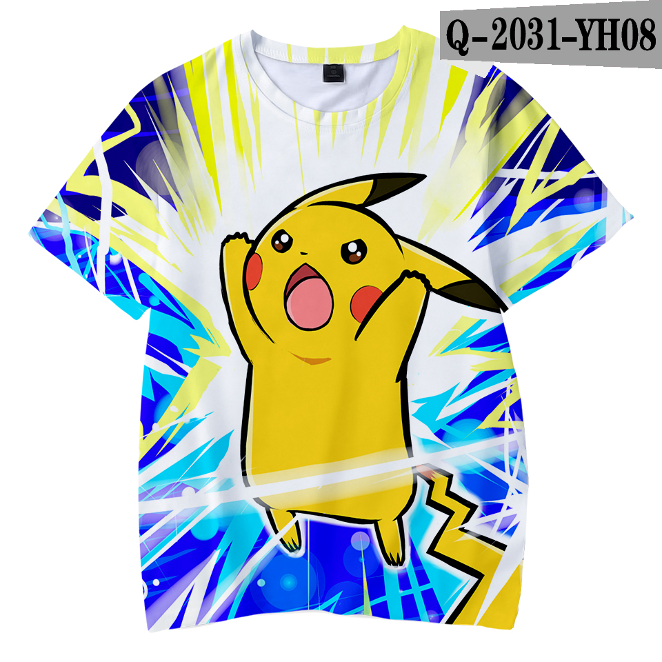 Kawaii 3D Pokemon Print Childrens Harajuku T-shirts  kids Casual Clothes 2018 Hot Sale Short Sleeve TShirt  Kpop Hip Hop 5