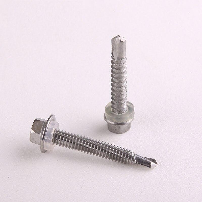 100 pi/èces M4.2 M4.8 M5.5 M6.3 /× 150 mm Vis sp/éciale en acier inoxydable pour vis /à sertir hexagonal en acier inoxydable 410 M4.2 /× 13mm 100 pi/èces