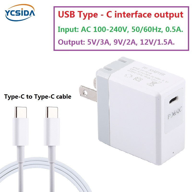 US $1 78 20% OFF|US Plug PD 18W Type C Output phone fast charger  Adapter,Compatible country United States Japan Canada Brazil etc -in Mobile  Phone