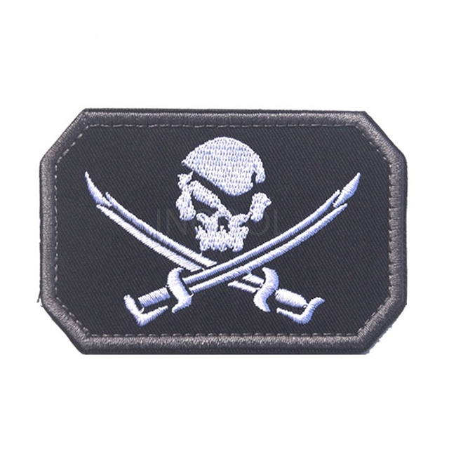 embroidery patch navy seals pirate skull morale patch tactical