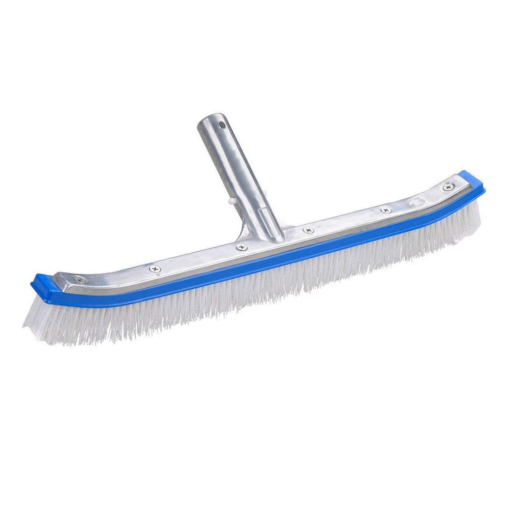 Swimming Pool Spa Algae Cleaning Brush Head Heavy Duty Cleaner Broom Curved Tool Pool Cleaning Brush Pool Cleaning Equipment