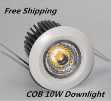 2015 Newest Dimmable 10W New Very Bright LED COB chip downlight Recessed Ceiling light Spot Light Lamp White/ warm white