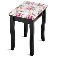 Vanity Wood Dressing Stool Padded Piano Seat with Rose Cushion Makeup Ottoman Stools Piano Seat With Cushion New Arrival