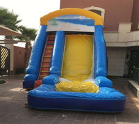 Outdoor fun pvc giant Inflatable Water Slide with pool games