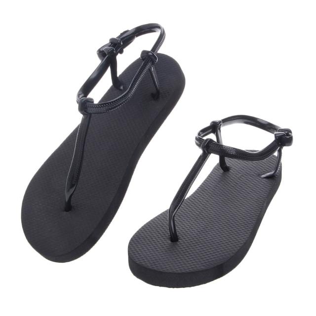 546ce32f1f41 2018 Summer Roman Non-Slip Thong Shoes T-Strap Block Slippers Summer Beach Flip  Flops Flat Sandals