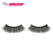 Misslamode 1pair false eyelashes strip fake eyelashes natural crossing black terrier fake eyelashes mink xmz38