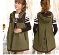 Hot!!!Free shipping !Ma3 jia3 female leisure hooded qiu dong long loose big yards in the spring and autumn ma3 jia3 vest in 2015