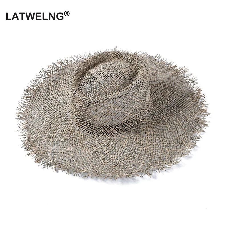 2019 Fashion Breathable Green Straw Beach Sun Hats For Women Hat Size 56-57 Cm Cool Ladies Summer Hat Dropshipping Wholesale
