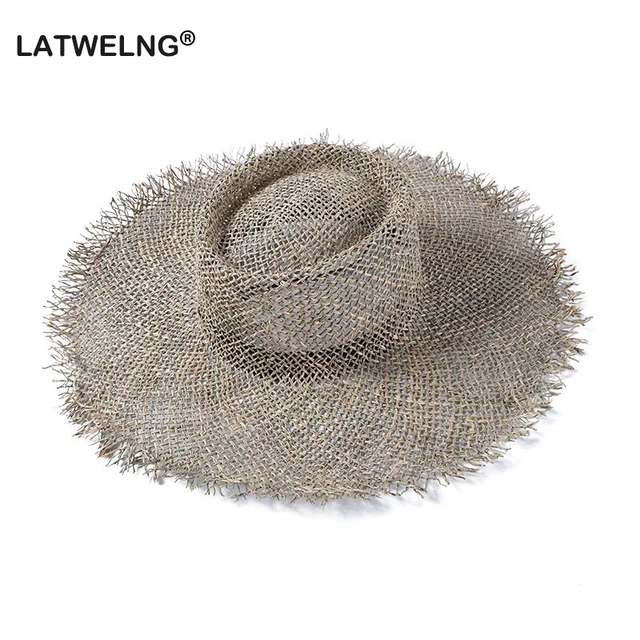 2019 Fashion Breathable Green Straw Beach Sun Hats For Women Hat Size 56 57 cm Cool