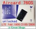 Оригинал Разблокировать LTE 100 Мбит Sierra Wireless Aircard 760 S 4 Г Sim-карты Мобильного Wi-Fi Маршрутизатор 4 Г Маршрутизатор, PK AirCard 754 S 753 S e5776s