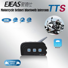1PCS 1000M Dual Bluetooth 4 Riders Same Time Talking Motorcycle Helmet BT Intercom Headset Kit Moto Interphone Intercomunicador