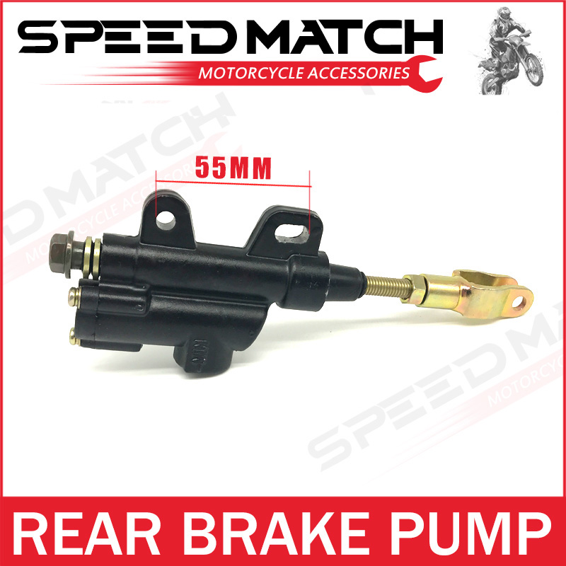 Motocross Rear Foot Hydraulic Brake Master Cylinder Pump for 50cc 70cc 90cc 110cc 125cc 150cc 200cc Dirt Pit Bike ATV Quad Moped high quality dirt pit bike atv quad motorcycle right front brake pump refit brake master cylinder pump free shipping