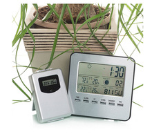Wholesale prices LCD Wireless Weather Station Digital Indoor/Outdoor Thermometer Hygrometer Temperature Humidity Meter Date Alarm Clock