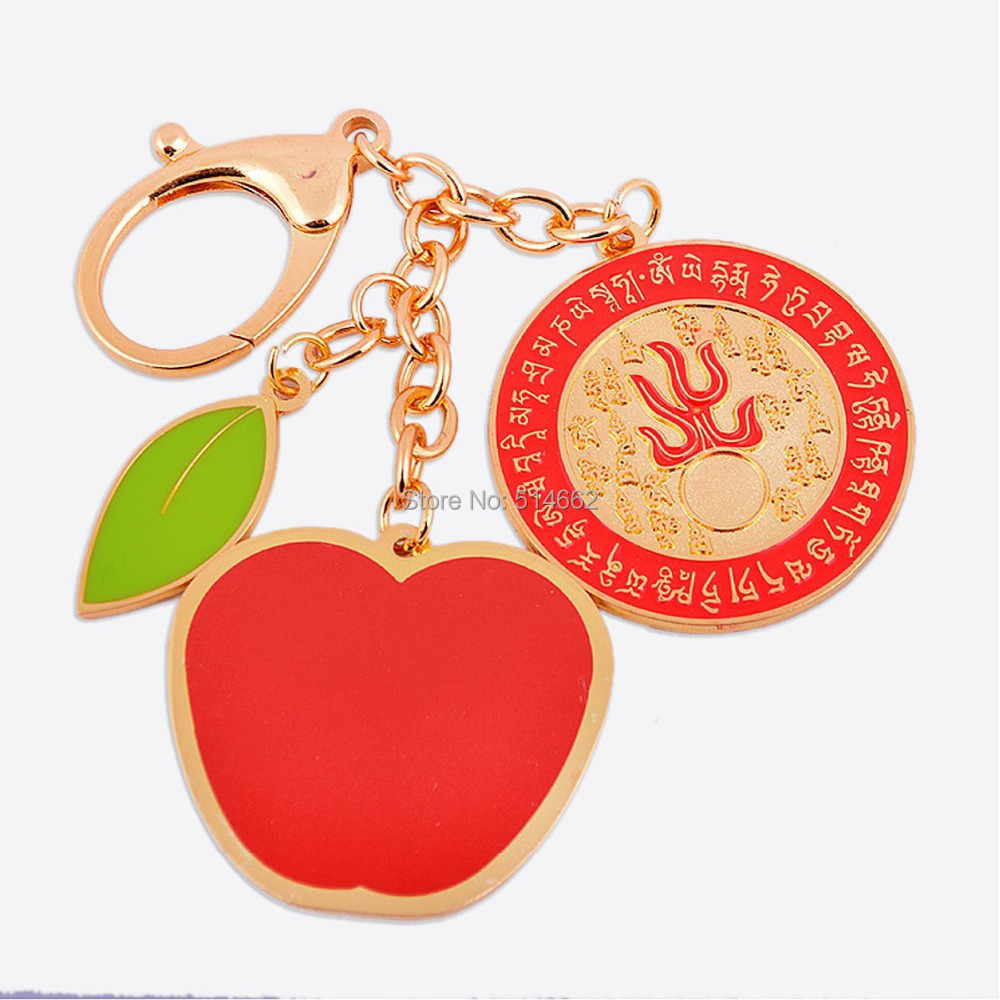 New Feng Shui Peace and Harmony with Ksitigharbha Fireball Amulet keychain W1160
