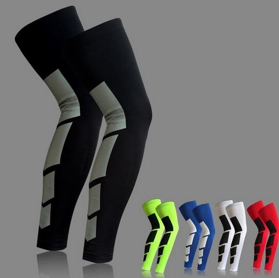 2 Pcs/Pair Super Elastic Lycra Basketball Leg Warmers Calf Thigh Sleeves Knee Brace Soccer Volleyball Cycling