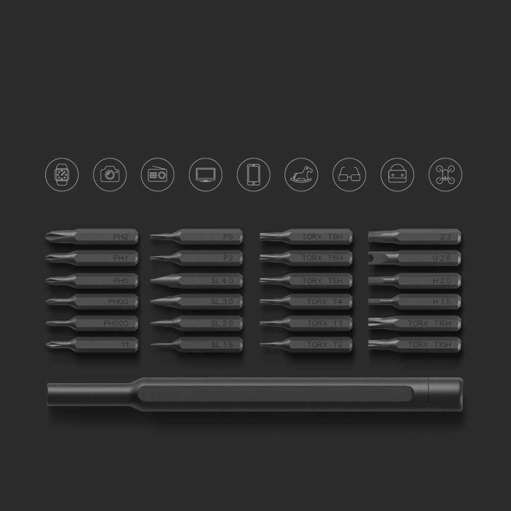 New In Stock Xiaomi Mijia Wiha Daily Use Screw-driver Kit 24 Precision Magnetic Bits Alluminum Box Wiha DIY Screw Driver Set