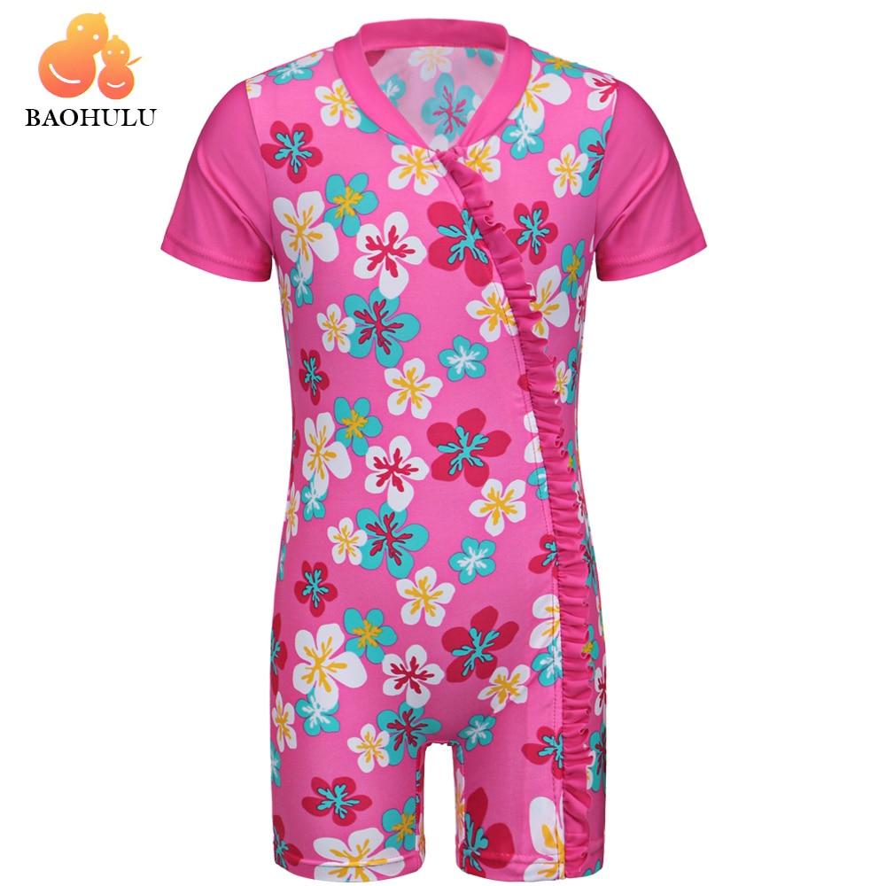 Baohulu Print Baby Girl Swimwear Upf50 One Piece Swimsuit -9871