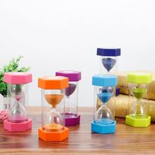 new 6 Colors Home Decoration Desktop Sand Clock Timers 5/10/15 minutes Household Hourglass Timer for Children Gift #5