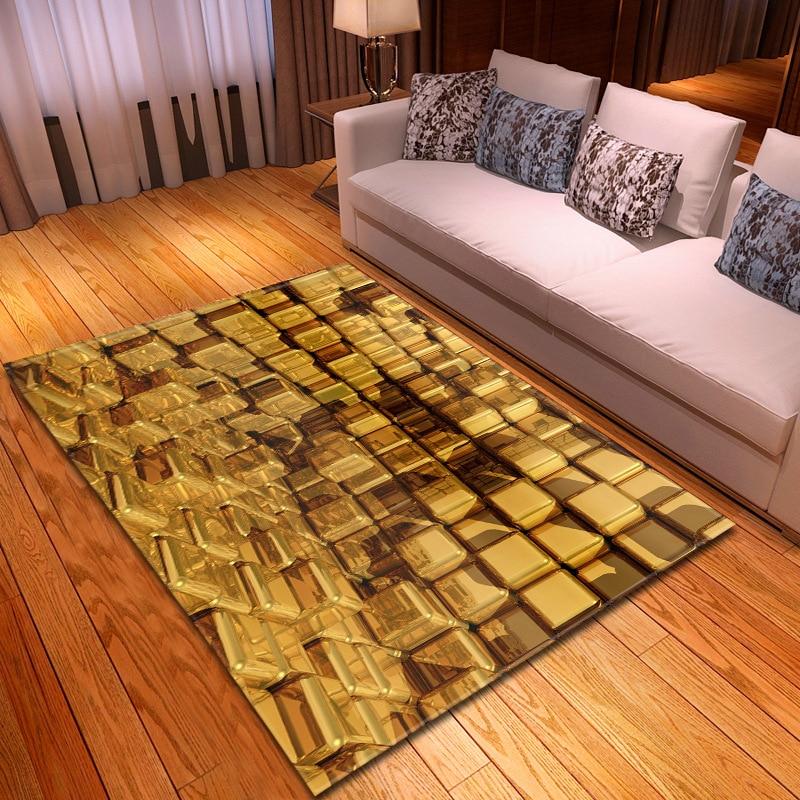Tapis créatif 3D imprimé Lego pour salon chambre tapis de sol solide doux Rectangle antidérapant tapis Tapete couverture décor à la maison