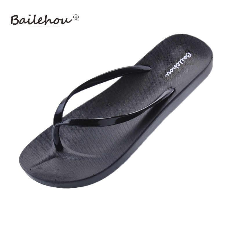 210e9a426d5b Bailehou Women Slippers Fashion Designer Beach Flip Flops Ladies Shoes 2018  Summer Flat Thong Sandals Shower
