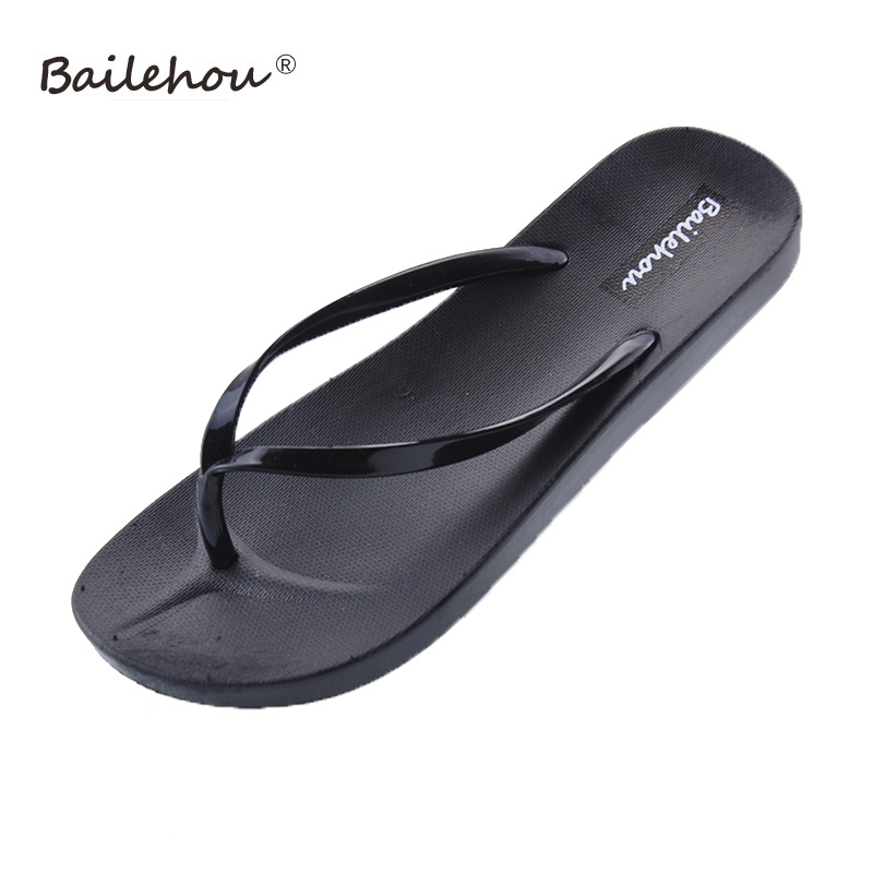 Bailehou Women Slippers Fashion Designer Beach Flip Flops Ladies Shoes 2018 Summer Flat Thong Sandals Shower Slides casual bow slides women summer beach shoes woman leather slippers flat flip flops ladies sandals