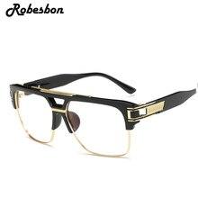 f90f58227 2018 رجالية ماركة إطار سبيكة المتضخم النظارات البصرية نظارات إطارات إطارات  النساء أفضل أزياء النساء الكلاسيكية