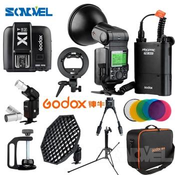 Free DHL Godox Witstro Speedlite Flash Light AD360II-N 360Ws 2.4G i-TTL 1/8000S+ X1T-N Transmitter +PB960 Battery Pack for Nikon