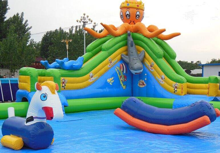 aliexpresscom buy free air shipping to door12105mh giant commercial octopus inflatable pool slide inflatable water slide for kids from reliable