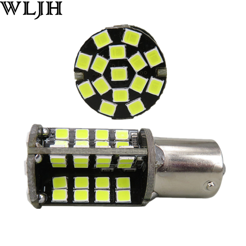 WLJH 2x Canbus LED Light P21W 1156 BA15S 2835 SMD Reverse Backup Lamp Bulb for Volvo C30 S80 XC60 S40 S60 S80 V50 V70 C30 C70 wljh 2x canbus led 20w 1156 ba15s p21w s25 bulb 4014smd car lamp drl daytime running light for volkswagen vw t5 t6 transporter