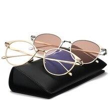 2019 Fashion Vintage Round Sunglasses Women Men Retro Brand Designer Sun Glasses Metal Frame Ocean Sunglass UV400 Oculos De Sol цена