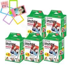 Fujifilm instax mini 11 filme branco instantâneo + 5 cores conjunto de quadros para instax mini 9 8 7s 70 90 25 câmera sp2 sp1 liplay impressora