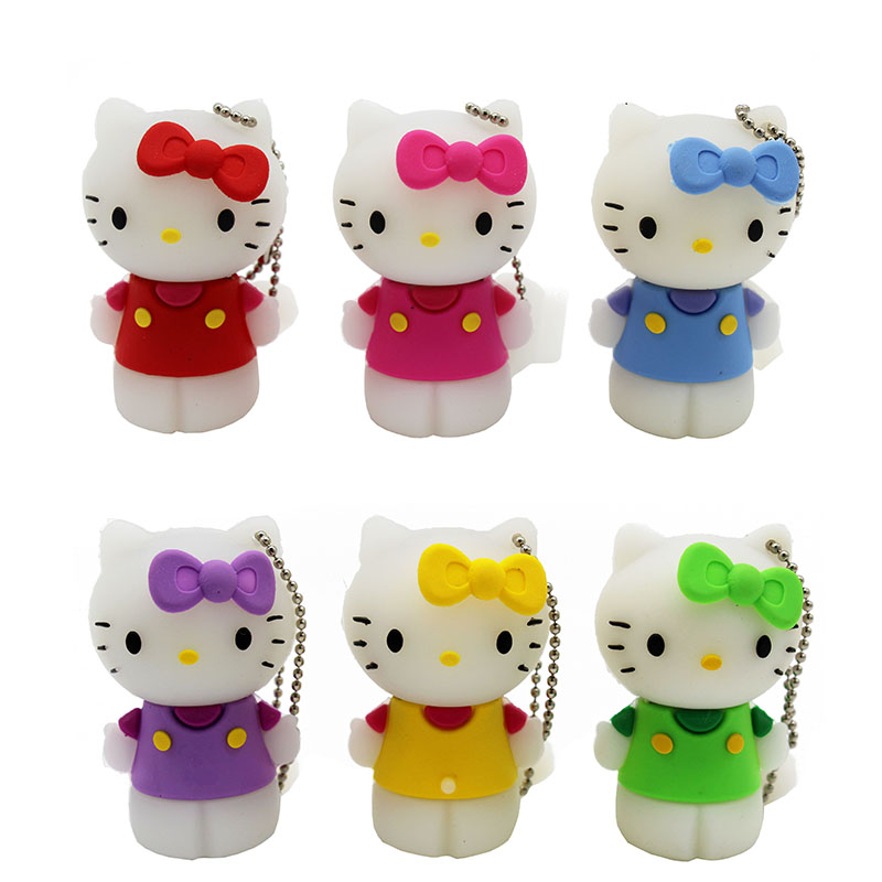 TEXT ME Cartoon Small 64GB  Cute Hello Kitty Personality  USB Flash Drive 4GB 8GB 16GB 32GB Pendrive USB 2.0 Usb Stick