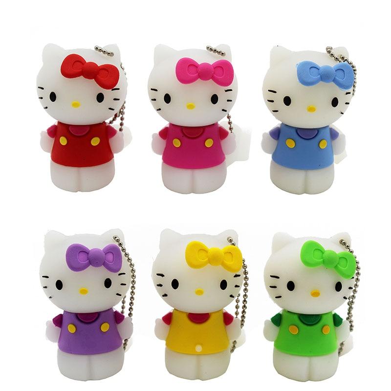 TEXT ME Cartoon Small 64GB  Cute Hello Kitty Personality  USB Flash Drive 4GB 8GB 16GB 32GB Pendrive USB 2.0 Usb Stick