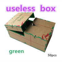 wholesale green 50pcs Useless Box Kit Leave Me Alone Box Geek Gift(Fully Assembled,DIY Version)Fun Joke Novelty Gag Electric Toy