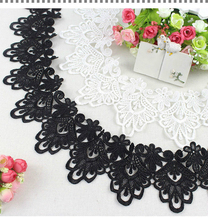 10cm Wide Water-soluble Tulle Lace Fabric Embroidery Hollow Clothing Decoration DIY Sewing Clothes Hem Sleeves Edge Accessories 7cm wide hollow delicate flower lace handmade diy embroidery clothing accessories skirt water soluble edge sewing curtain decor