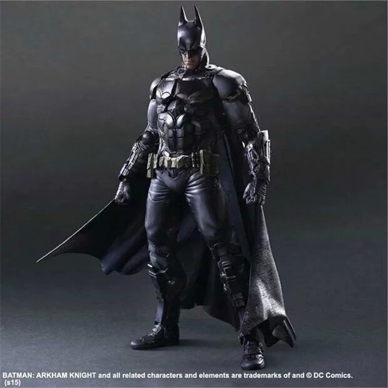 Play Arts Kai DC Superhero Batman Arkham Knight Figurine Brinquedos PVC Action Figure Collectible Model Doll Kids Toys 27cm playarts kai batman arkham knight batman blue limited ver superhero pvc action figure collectible model boy s favorite toy 28cm