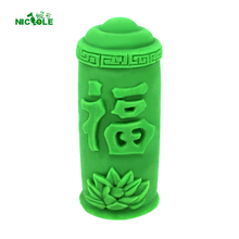Traditional Chinese Candle Silicone Mold Cylindrical with Blessing Word DIY Handmade Soap Mould