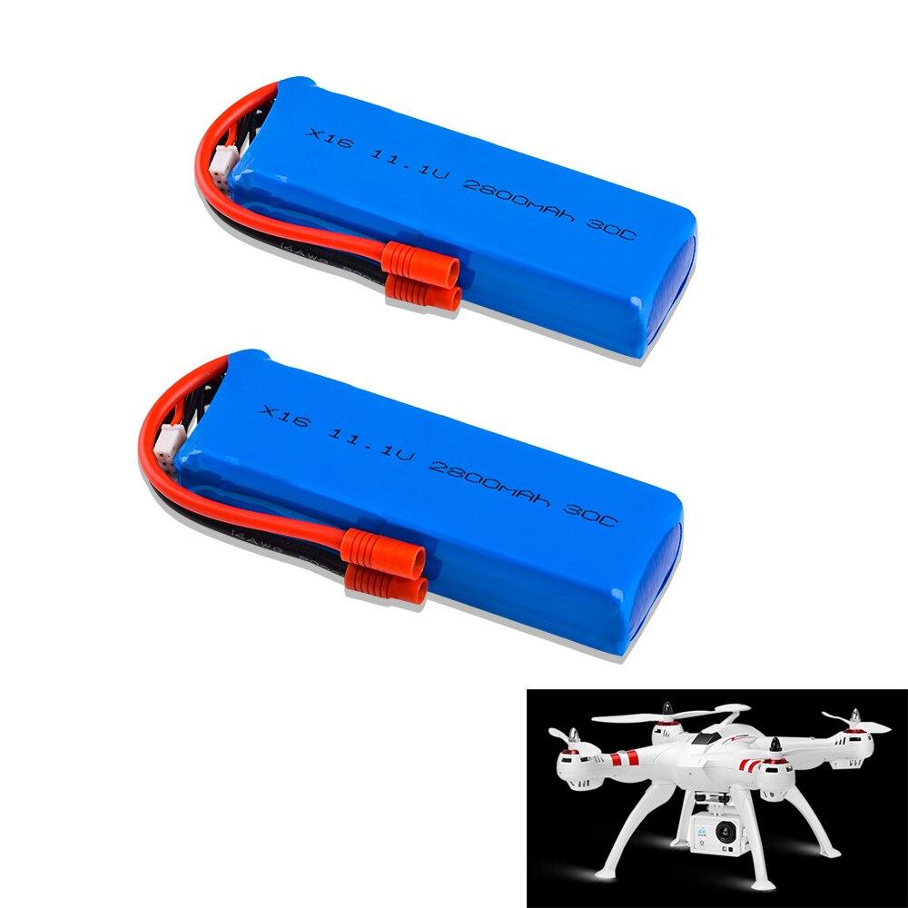 Rc Lipo batería de 11,1 V 2800 mAh 30C 3 S batería para X16 RC Drone/BAYANG BAYANGTOYS XK X350-015 rc Quadcopter