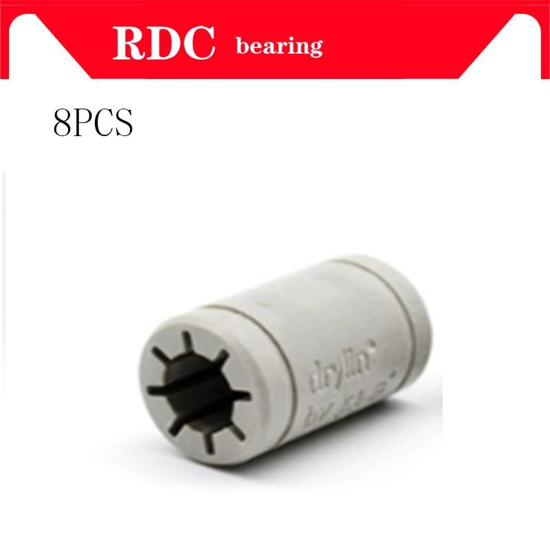 8pcs 3D Printer Solid Plasticr Bearing ID 6/8/10/12mm Shaft Igus Drylin RJ4JP-01-08 RJ4JP-01-10 RJ4JP-01-12