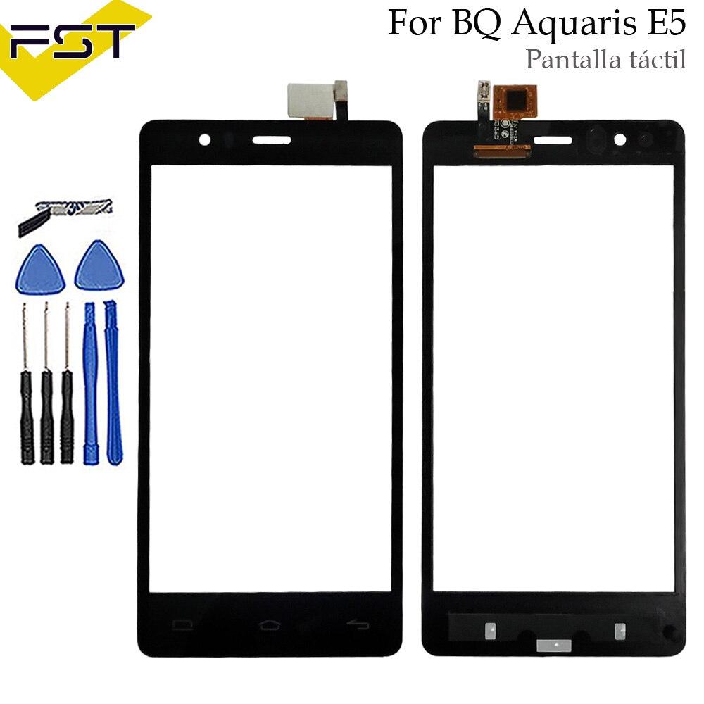 For BQ Aquaris E5 Touch Screen For BQ Aquaris E5 4G HD FHD E5.0 Touch Screen Glass Digitizer Panel Lens Sensor Tools No Lcd
