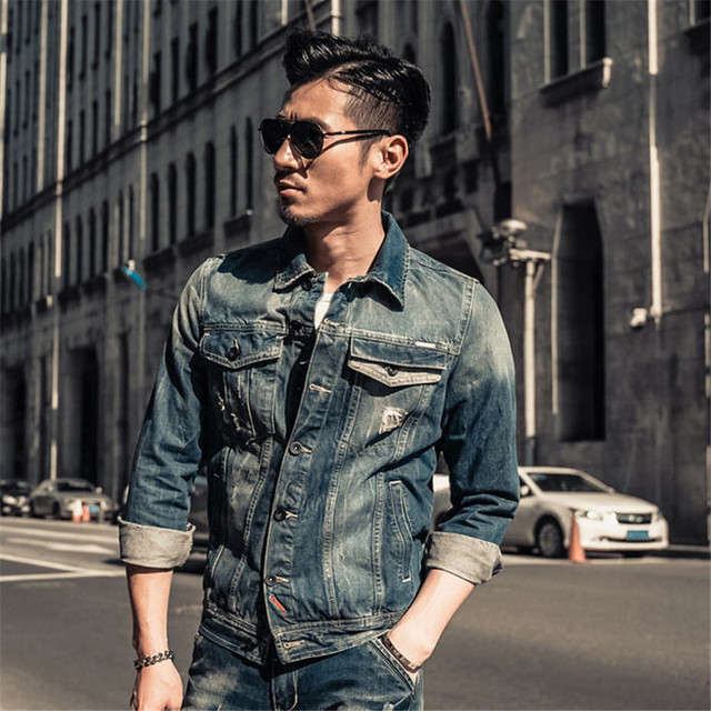 Aliexpress.com : Buy Brand Clothing XXL XXXL Denim Jacket Men 2017 ...