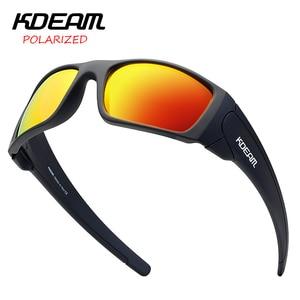 Image 1 - KDEAM 2019 Nuovo Arrivo Degli Uomini di Sport Occhiali Da Sole TR90 Telaio HD Polarizzati lente a specchio Outdoor Occhiali UV400 5 Colori con il caso KD555